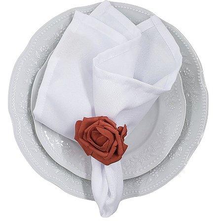 Porta Guardanapo Botão de Rosa Vermelho Luxo EVA - 4 unds