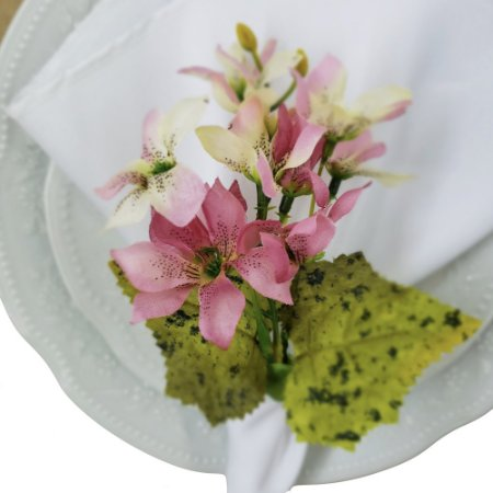 Porta Guardanapo Ramo de Mini Orquídeas Amor da Charlô - 4 unds