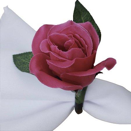 Porta Guardanapo Botão de Rosa Pink - 4 unids