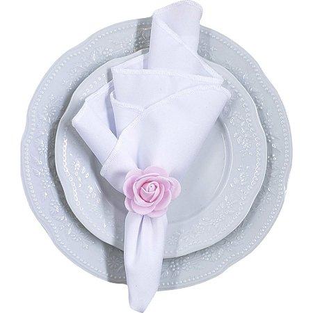 Porta Guardanapo Botão de Rosa EVA (Rosa) - 4 unids