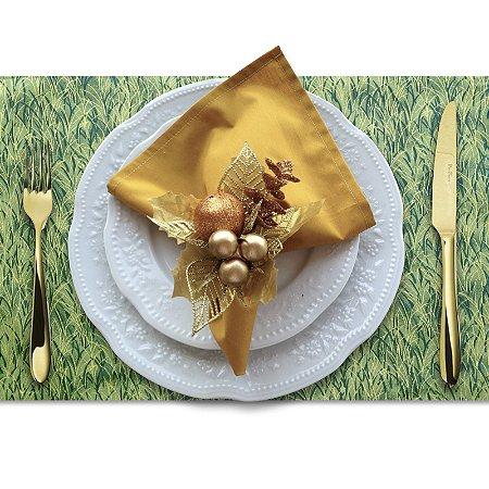 Jogo Americano Trigo Verde Dourado Mais Brilho - 4 unds