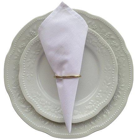 Kit 20 Guardanapos de Tecido 100% algodão - 39cmx39cm (Branco)