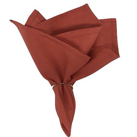 Kit 20 Guardanapo de Tecido Oxford Vermelho 40cmx40cm com Anel de Guardanapo