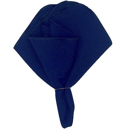 Kit 10 Guardanapo de Tecido Oxford Overloque Azul Marinho 40cmx40cm com argola