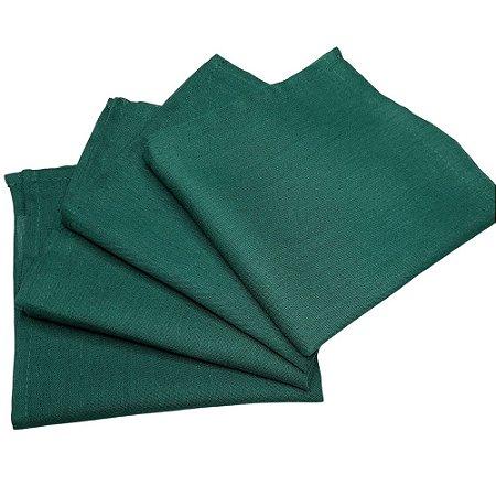Guardanapo de Tecido Verde Folha 32cmx32cm - 4 unidades