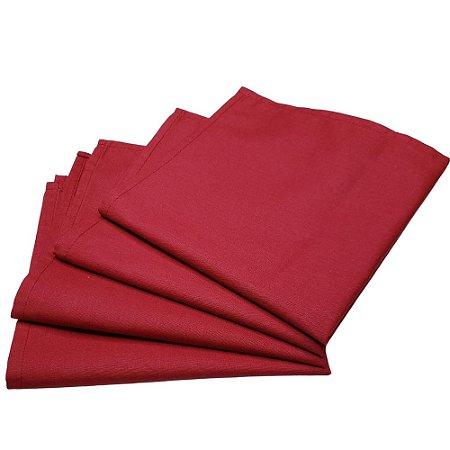 Guardanapo de Tecido Vermelho Amor 32cmx32cm - 4 unidades