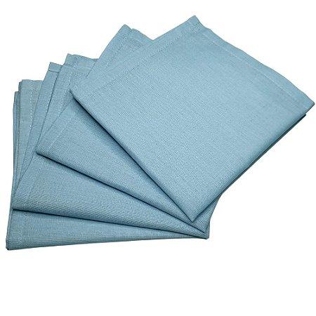 Guardanapo de Tecido Azul Ceú 32cmx32cm - 4 unidades