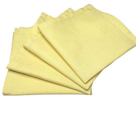 Guardanapo de Tecido Amarelo Pastel 32cmx32cm - 4 unidades