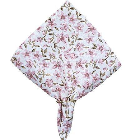 Guardanapo de Tecido Floral Mimosa da Charlô 32cmx32cm - 4 unidades