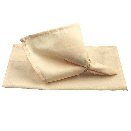 Guardanapo de Tecido Manteiga 32cmx32cm - 4 unidades