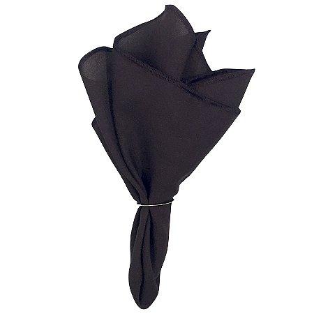 Guardanapo de Tecido Oxford Overloque Marrom 40cmx40cm - 4 unds
