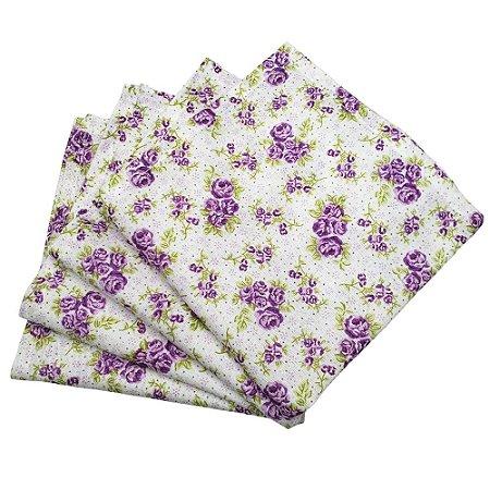 Guardanapo de Tecido Floral Brasil 32cmx32cm - 4 unidades