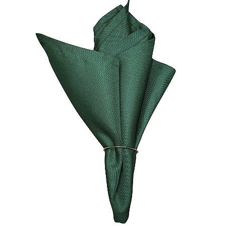 Kit 4 Guardanapos de Tecido Oxford Verde Bandeira 40cm x 40cm