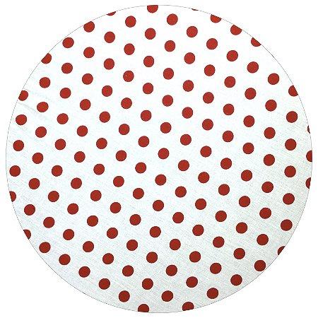 Capa para Sousplat Poá Branco/Vermelho 35cmx35cm – 4 unids