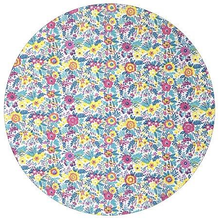 Capa para Sousplat Floradinha da Charlô com base em MDF 35cmx35cm - 8 peças