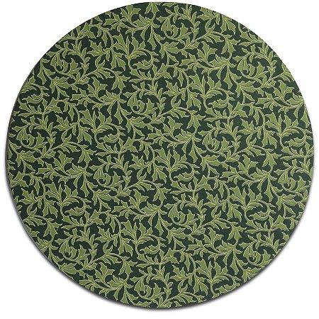 Kit 4 Capas para Sousplat Arabesco Natalino Folhas Verdes 30cmx30cm