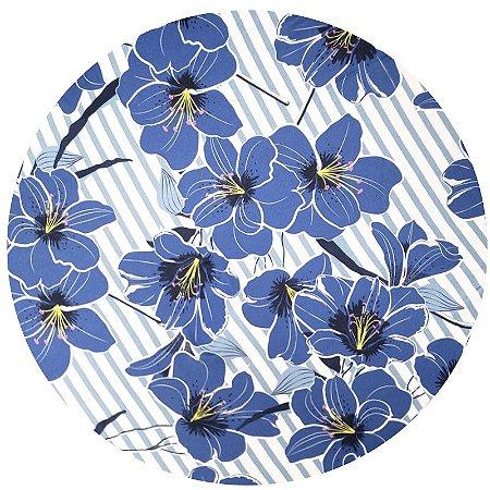 Kit 4 Capas para Sousplat Floral Blue da Charlô 35cmx35cm