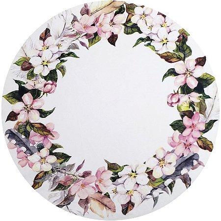 Kit 4 Capas para Sousplat Floral Ring Rosa da Charlô 35cmx35cm