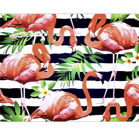 Kit 4 Jogos Americanos Flamingo da Charlô 43cmx34cm