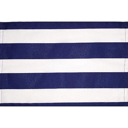 Kit 4 Jogos Americanos Listrado Azul da Charlô 45cmx30cm