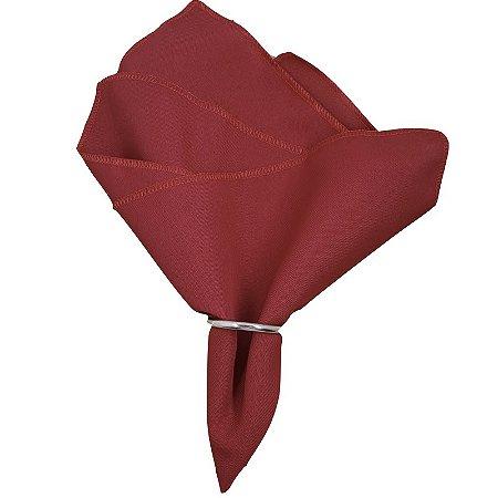 Kit 10 Guardanapos de Tecido Oxford Overloque Vermelho 40cmx40cm com argola