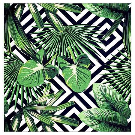 Kit 4 Guardanapos de Tecido Folhas Tropicais da Charlô 40cmx40cm