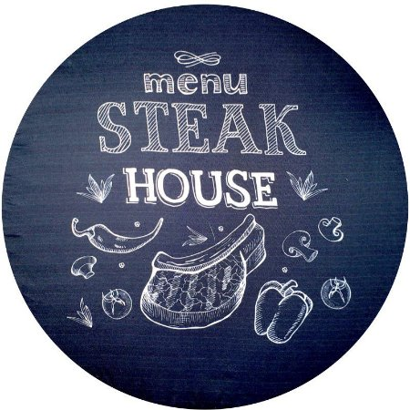 Kit 4 Capas Sousplat Steak House 35cmx35cm com base mdf