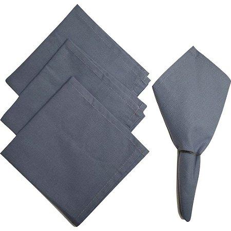 Kit 4 Guardanapo de Tecido Algodão Azul Celeste 32cmx32cm