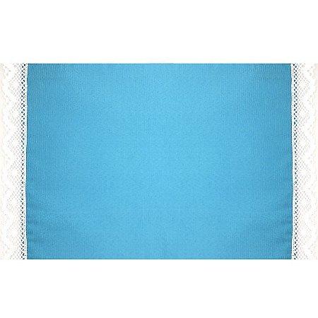 Kit 2 Jogos Americanos Curaçau Blue Bordado