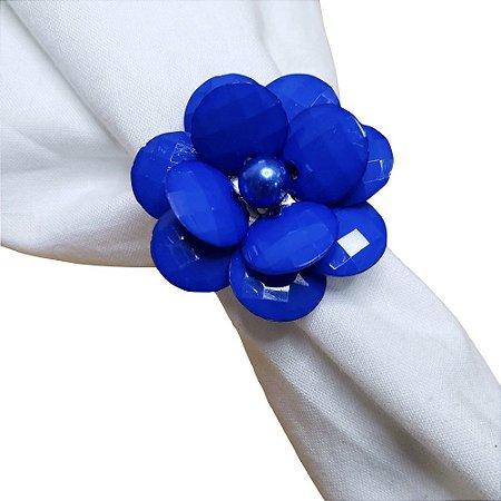 Porta Guardanapo Flor Delicada da Charlô (Azul Royal) - 4 unds