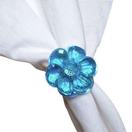 Porta Guardanapo Flor Delicada da Charlô (Azul Turquesa) - 4 unds