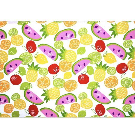 Kit 4 Jogo Americano Salada de Frutas 45cmx30cm