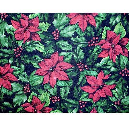 Kit 4 Jogos Americanos Flor de Natal 43CMX34CM