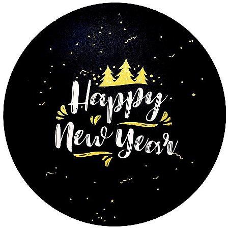 Kit 4 Capas para Sousplat Happy New Year 35cmx35cm