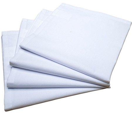 Kit 4 Guardanapos de Tecido Branco Algodão 39cmx39cm