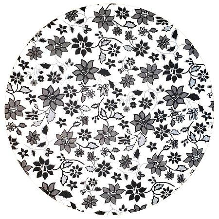 Kit 4 Capas para Sousplat Floral Black 35cmx35cm