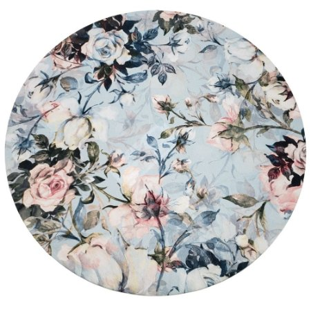 KIT 20 Capas Sousplat Floral Vintage Azul 35cmx35cm