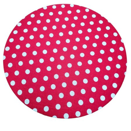 KIT 20 Capas Sousplat Poá  Vermelho Branco 35cmx35cm