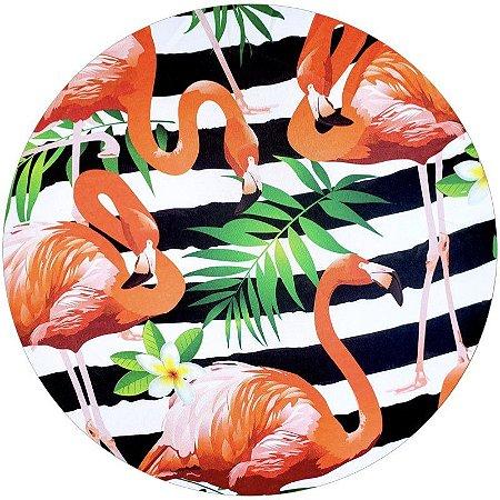 Kit 4 Capas para Sousplat Flamingo da Charlô 35cmx35cm