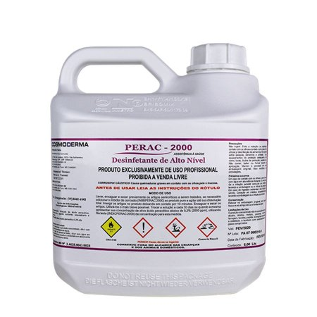 Perac 2000 5 litros - Ácido Peracético 0,2%