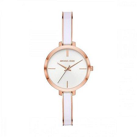 Relógio Michael Kors Branco Rosê