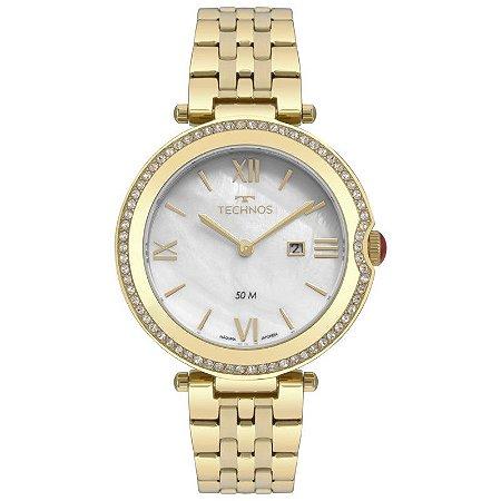 Relógio Technos Dourado Madrepérola
