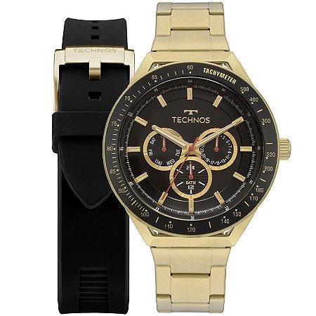 Relógio Technos Dourado Pusleira Duo