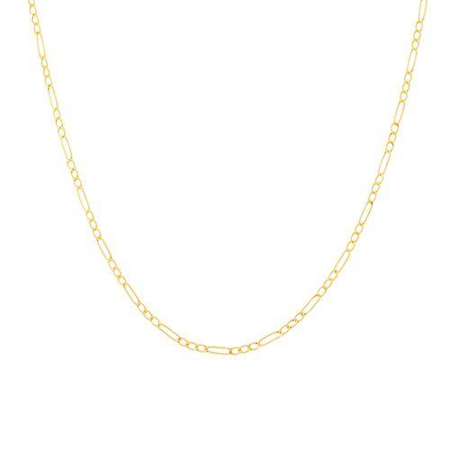 Corrente de Ouro Elo 3x1 60cm