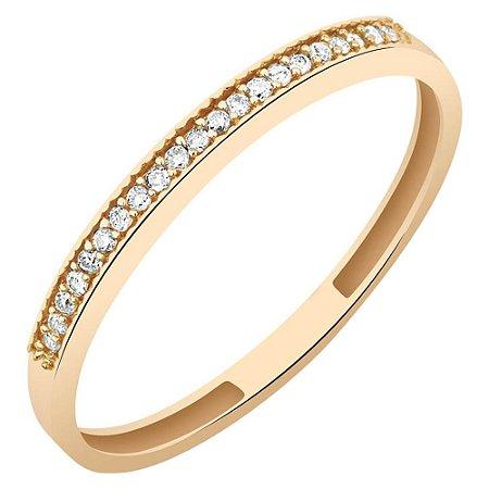 Anel Ouro Aparador com Diamantes