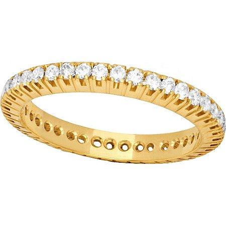 Anel Ouro Inteira Diamantes