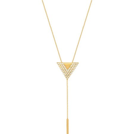 Pingente Ouro Triângulo com Zircônia S/Corrente