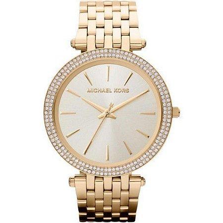Relógio Michael Kors Feminino Dourado Madre Perola