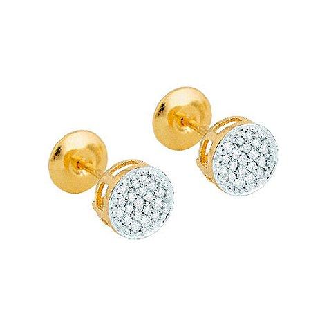 Brinco Ouro Chuveiro 38 Diamante