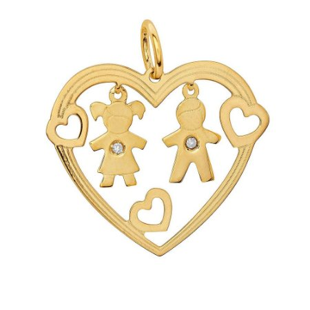 Pingente-Ouro-Casal-Pendurado-Diamante-